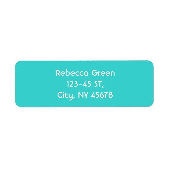 モダンの抽象的なティール(緑がかった色)青い愛ターコイズ ラベル