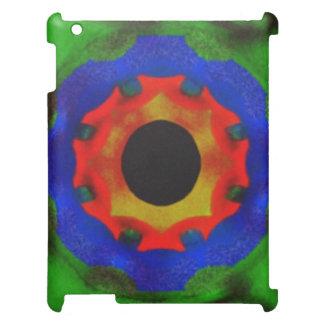 モダンの抽象的な円パターン iPadケース