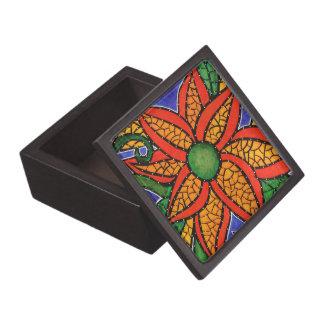 モダンの抽象的な花 ギフトボックス