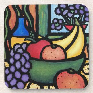 モダンの抽象的な静物画のデザート用深皿 コースター