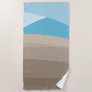 モダンの抽象芸術のビーチ ビーチタオル