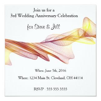 モダンの第3結婚記念日の招待状 カード