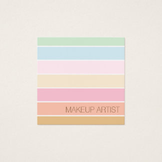 モダンの素晴らしい色のパステル調のパレットのメーキャップアーティスト スクエア名刺