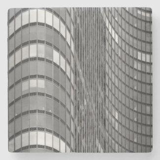 モダンの鋼鉄およびガラスカーテン・ウォール ストーンコースター