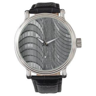 モダンの鋼鉄およびガラスカーテン・ウォール 腕時計