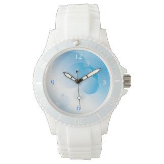 モダンの青の抽象的な円のデザイン 腕時計