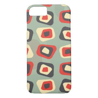 モダンは曲げられた長方形パターンを着色しました iPhone 8/7ケース