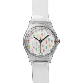 モダンは走り書きします腕時計(シトロンのティール(緑がかった色))を 腕時計