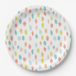 モダンは走り書きします9つを紙皿(シトロンのティール(緑がかった色)) ペーパープレート