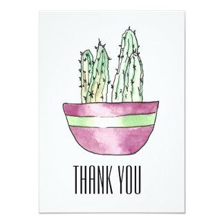 モダンは鉢植えなサボテンの平らなカード感謝していしています カード