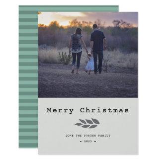 モダンは|にメリークリスマスを残します カード