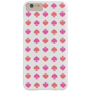 モダン及び情報通のピンクのオレンジ踏鋤iPhone 6のプラスの場合 Barely There iPhone 6 Plus ケース