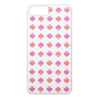 モダン及び情報通のピンクのオレンジ踏鋤iPhone 7のプラスの場合 iPhone 8 Plus/7 Plusケース