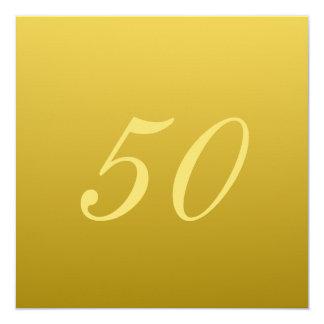 モダン第50記念日の招待状 カード