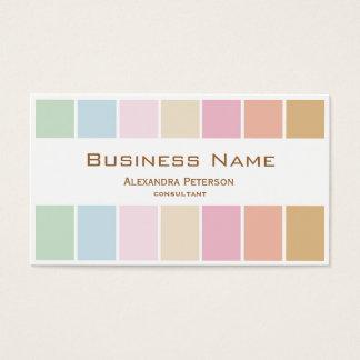 モダン素晴らしい色のパステルのパレット 名刺