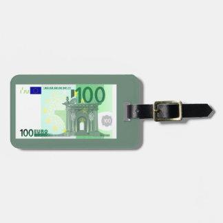 モダン100のユーロの通貨のお金のノート ラゲッジタグ