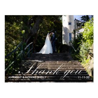 モダン2の写真の結婚式は郵便はがき感謝していしています ポストカード