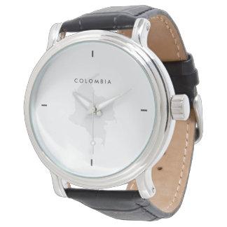 モダン: コロンビアの地図 腕時計