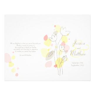 モダン|紙吹雪|花|花びら|結婚|プログラム 21.6CM X 27.9CM チラシ