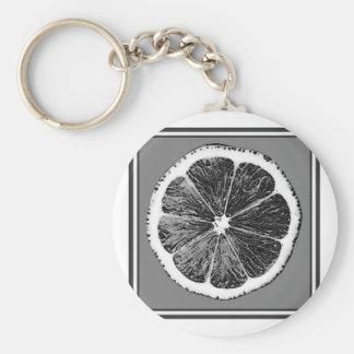 モダンB&Wの灰色の切口のブドウのフルーツのデザイン キーホルダー