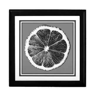 モダンB&Wの灰色の切口のブドウのフルーツのデザイン ギフトボックス