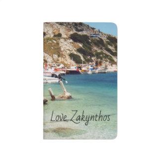 モチーフのZakynthosの港のニコラスのノート ポケットジャーナル