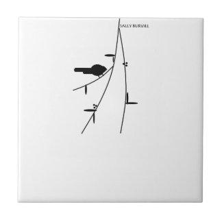 モチーフを向くこと: 鳥のセラミックタイル タイル