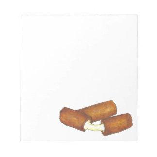 モツァレラのチーズはジャンクフードのグルメのギフトを付けます ノートパッド
