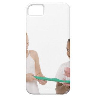 モデル一組の歯を持つ子供および特大 iPhone SE/5/5s ケース