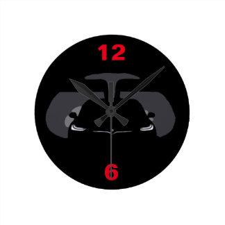 モデルX -暗闇 ラウンド壁時計