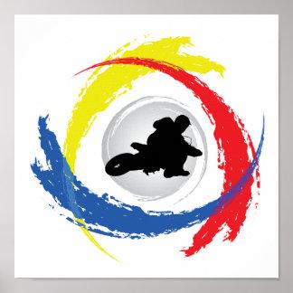 モトクロスの三色の紋章 ポスター