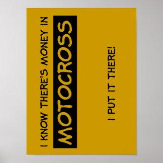 モトクロスの土のバイクポスターのお金 ポスター