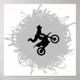 モトクロスの走り書きのスタイル ポスター
