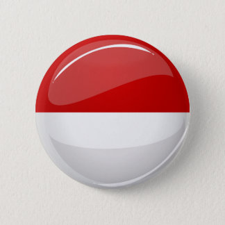 モナコの光沢のある円形の旗 5.7CM 丸型バッジ