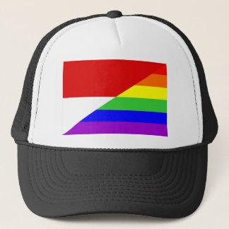 モナコの国の陽気な虹の旗の同性愛者 キャップ