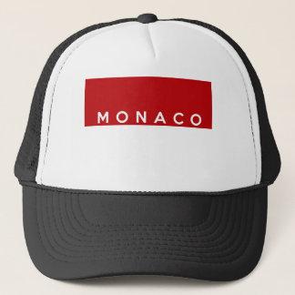 モナコの国旗の文字の名前 キャップ