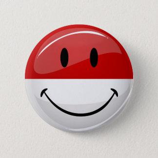 モナコの微笑の旗 5.7CM 丸型バッジ