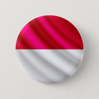 モナコの振る旗のpinbackボタン 5.7cm 丸型バッジ