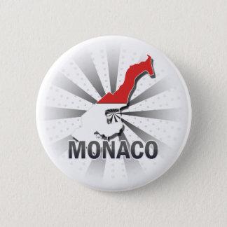 モナコの旗の地図2.0 5.7CM 丸型バッジ
