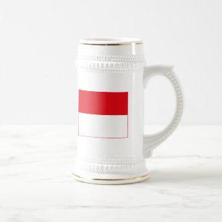 モナコの旗の(軽い)マグ ビールジョッキ