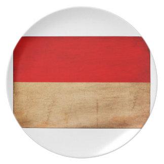 モナコの旗 プレート