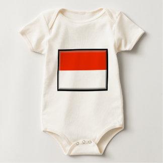 モナコの旗 ベビーボディスーツ