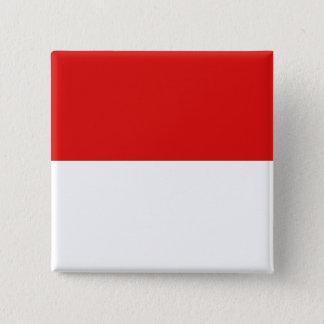 モナコの旗 5.1CM 正方形バッジ