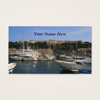 モナコの港 名刺
