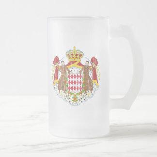 モナコの紋章付き外衣 フロストグラスビールジョッキ
