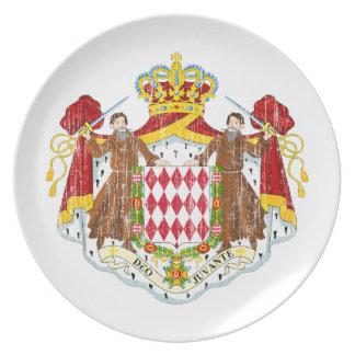 モナコの紋章付き外衣 プレート