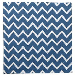 モナコの青いジグザグ形シェブロン ナプキンクロス