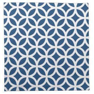 モナコの青い幾何学的 ナプキンクロス