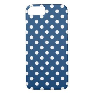 モナコの青い水玉模様のiPhone 7の箱 iPhone 8/7ケース
