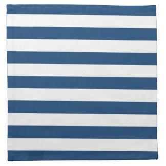 モナコの青い縞パターン ナプキンクロス
